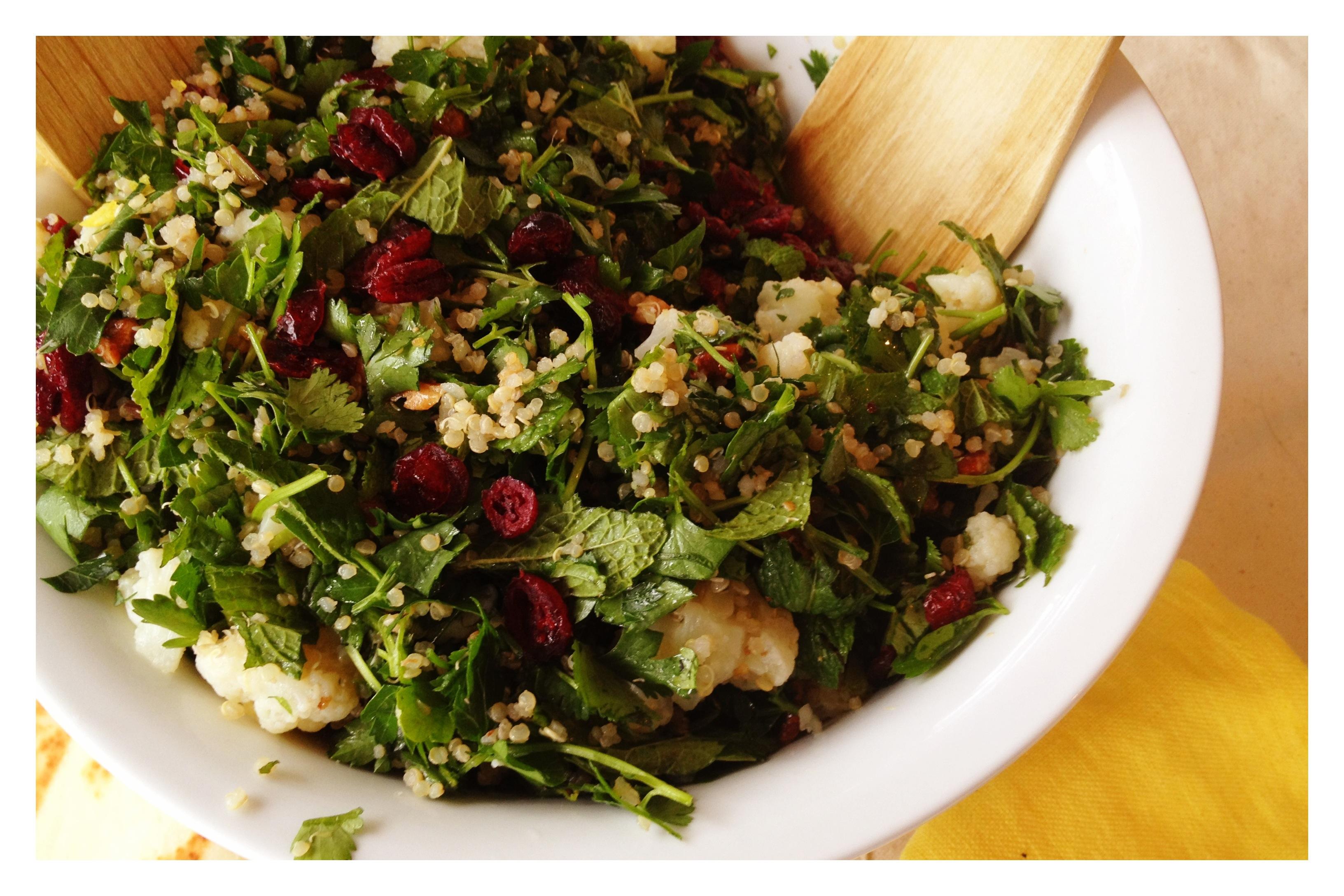 Quinoa Cauliflower Tabbouleh - in pursuit of more