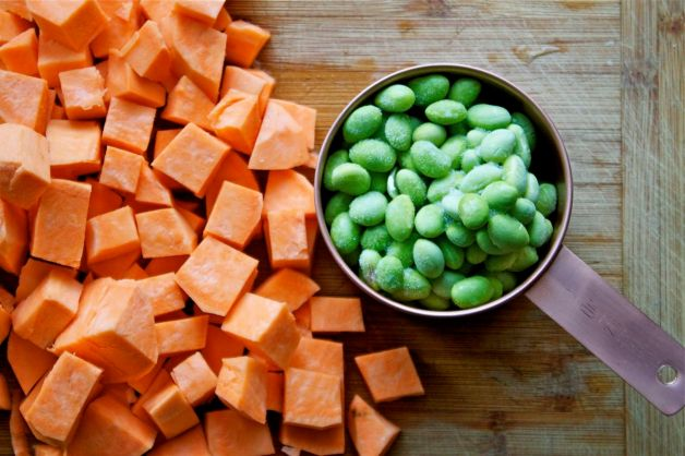 Roasted Yam & Edamame Salad | In Pursuit Of More